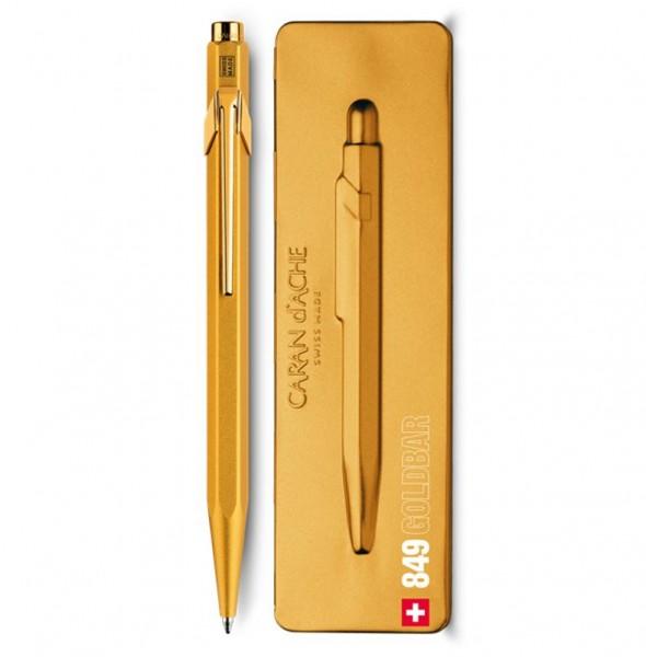 Caran d'Ache Kugelschreiber 849 Goldbar- mit Etui